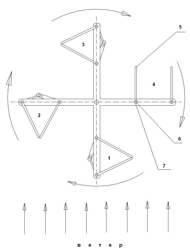 Вертикальный ветрогенератор со